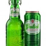 Постер, плакат: Grolsch premium lager beer isolated on white background