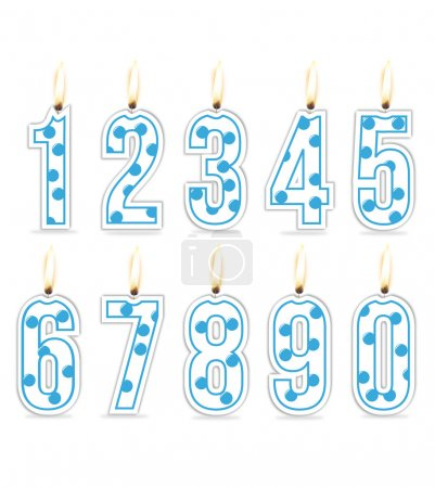Numeral birthday candles boy