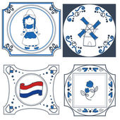 Dutch tiles vector hand drawn