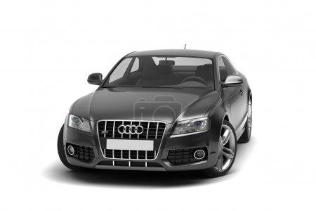 Glossy black luxury car