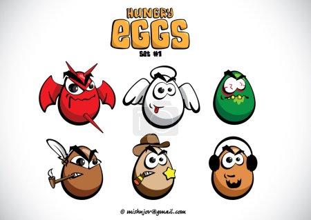 Hungry eggs set 2