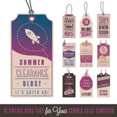 Collection of 10 Vintage Summer Sales Related Hang Tags