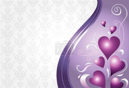 valentine & birthday card background in pink & violet