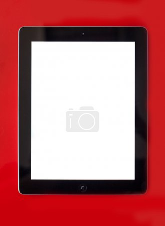 Tablet pc con pantalla en blanco