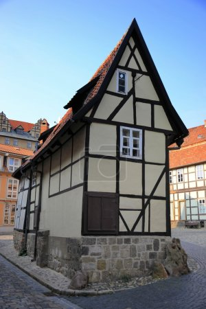 An old half-timbered house in the Old Town of Quedlinburg