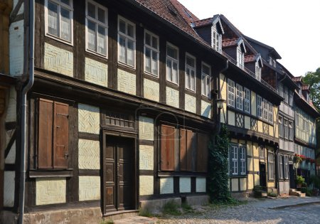 Old half-timbered houses in Quedlinburg