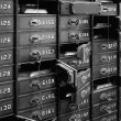 Deposit boxes of a bank in the Technik Museum Magd...
