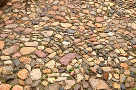 Cobblestones in the old town of Quedlinburg
