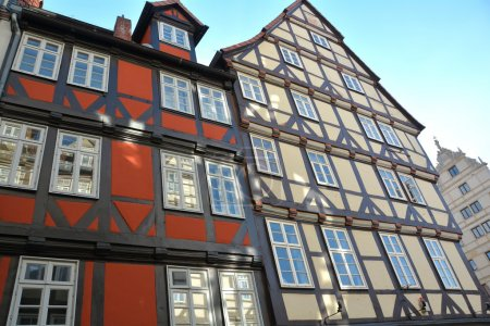 Historic half-timbered houses in Hanover