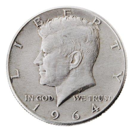 Silver Kennedy Half Dollar - Heads Frontal