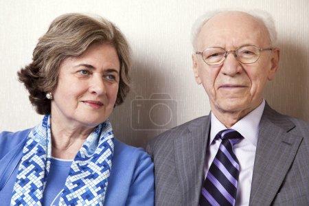 Elderly Couple Close Up