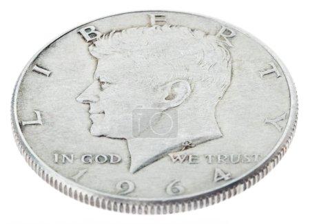 Silver Kennedy Half Dollar - Heads High Angle