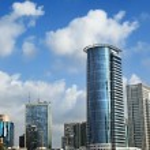 Skyline of downtown Ramta-Gan, featuring the famou...