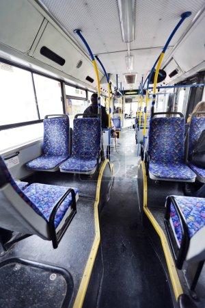 Israeli Bus Winter Morning