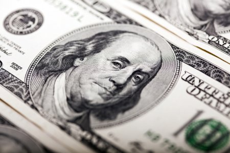 Benjamin Franklin 100 Dollar Bill Portrait