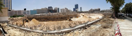 Large Tower Complex Construction Site Panorama