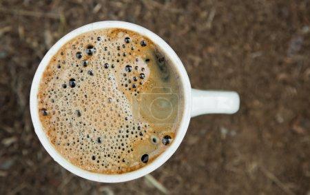 Fresh black coffee