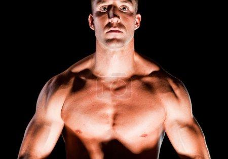 Muscular man' chest