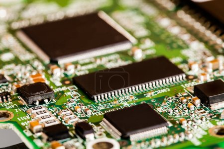 Photo for Extreme Closeup of Microchips Details - Royalty Free Image