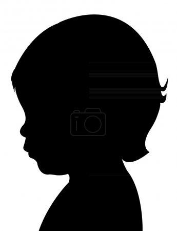 Child head silhouette vector