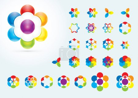 Illustration for Abstract Design Elements. Creative symbols collection - Royalty Free Image