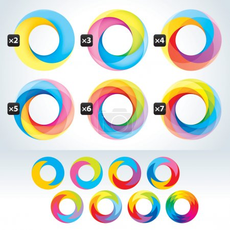 Set of abstact Infinite loop logo template. Corporate icons