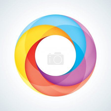Abstract Infinite Loop Sign Template. Corporate Icon. 4 Pieces S