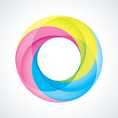 Abstract Infinite loop logo template Corporate icon 3 Pieces Shape