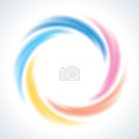 Abstract Infinite loop logo template. Corporate icon. 5 Pieces Shape
