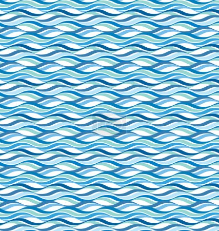 Illustration for Abstract wavy ocean background - Royalty Free Image