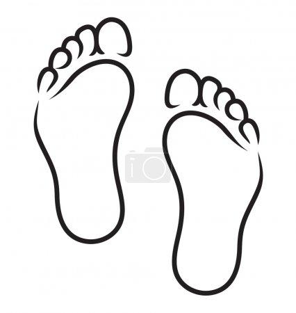 Illustration pour Symbole des pieds - image libre de droit