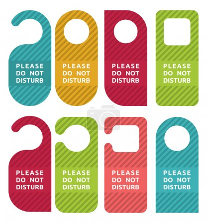Do not disturb door hanger set