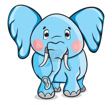 Illustration for Cute cartoon elephant - Royalty Free Image