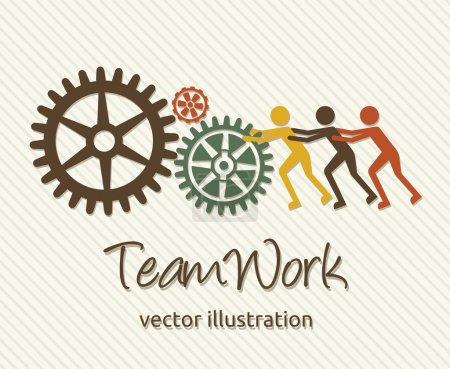 Illustration pour Carte de travail d'équipe - image libre de droit