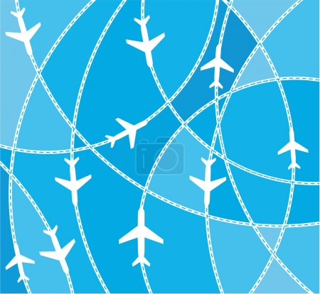 Illustration for Airplane destination routes - Royalty Free Image