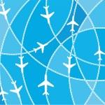 Airplane destination routes...