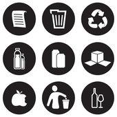 Recyklace sada ikon