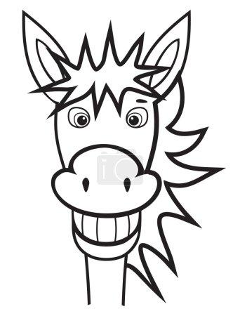 Illustration for Donkey black and white - Royalty Free Image