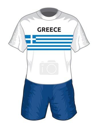 Greece football uniform