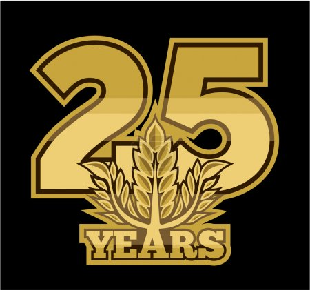 Illustration for Laurel wreath 25 years - Royalty Free Image