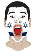 Israel fan face