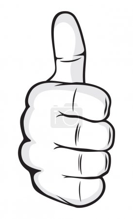 Illustration for Human hand giving ok (hand showing thumbs up) - Royalty Free Image