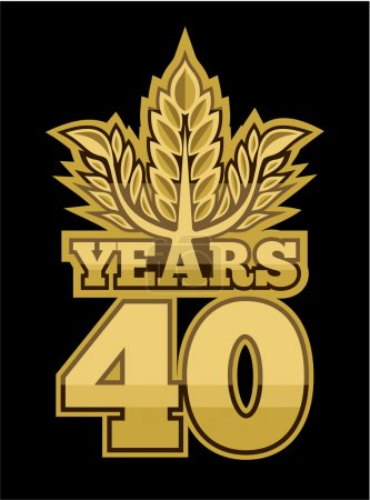 Illustration for Laurel wreath 40 years - Royalty Free Image