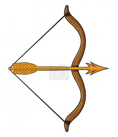 Illustration for Bow and arrow - Royalty Free Image