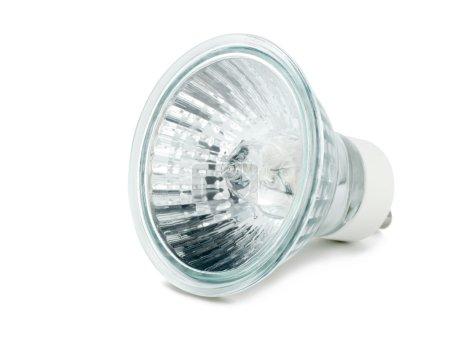 Photo pour Ampoule halogène isolée sur fond blanc - image libre de droit