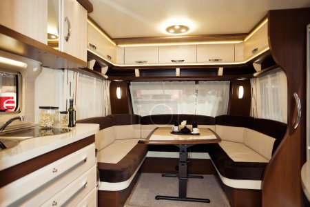 Photo for Inside of Modern Camper - Royalty Free Image