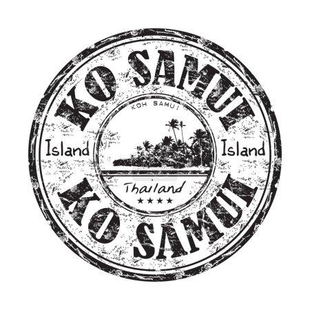 Ko Samui grunge rubber stamp