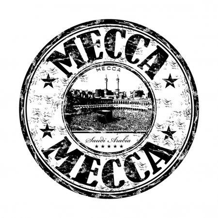 Mecca grunge rubber stamp