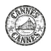 Cannes grunge rubber stamp