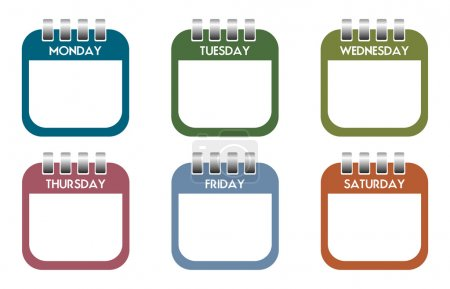 Week days calendar sheets